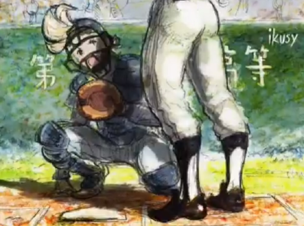 Octopath Traveler's Olberic and Bravely Default's Ringabel playing baseball is just lovely screenshot