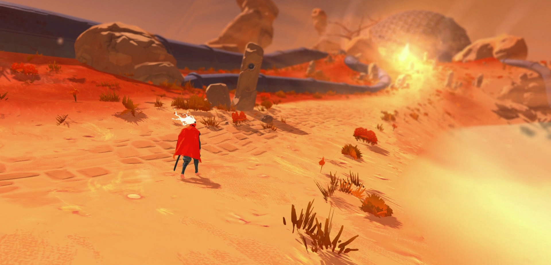 Tricky action game Furi adds Invincible mode screenshot