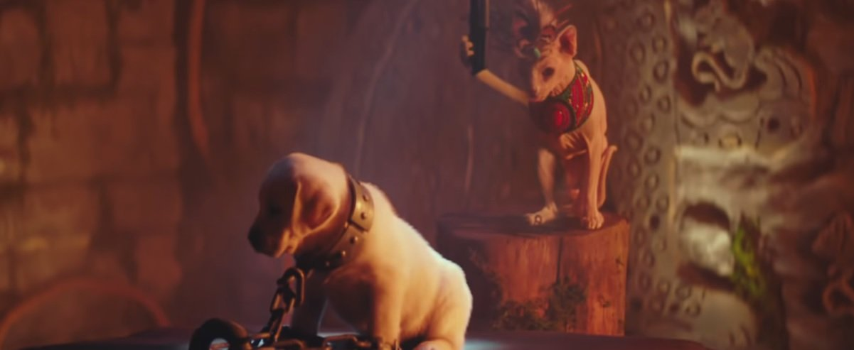 'Shadow of the Cute Raider' re-imagines Lara's world with cuddly cats and good dogs screenshot