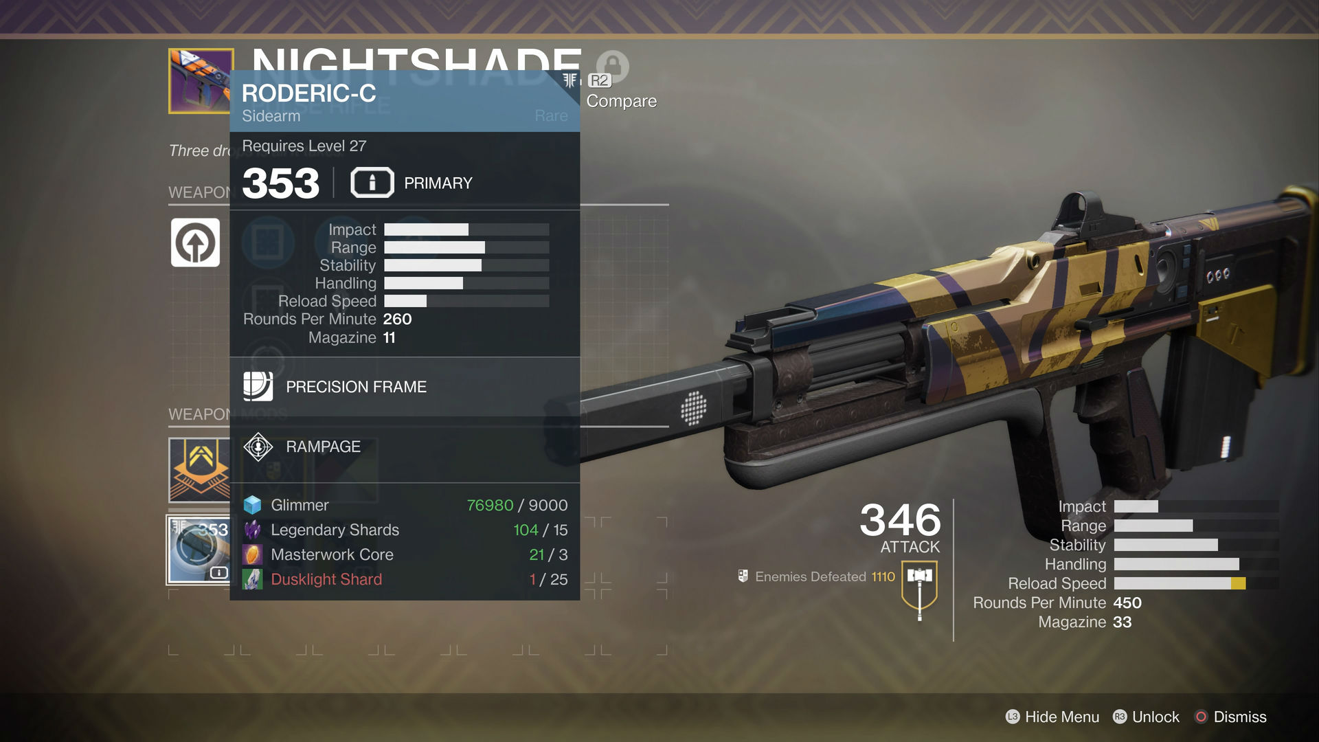 PSA: Destiny 2 requires more materials for infusions now, so be thrifty screenshot
