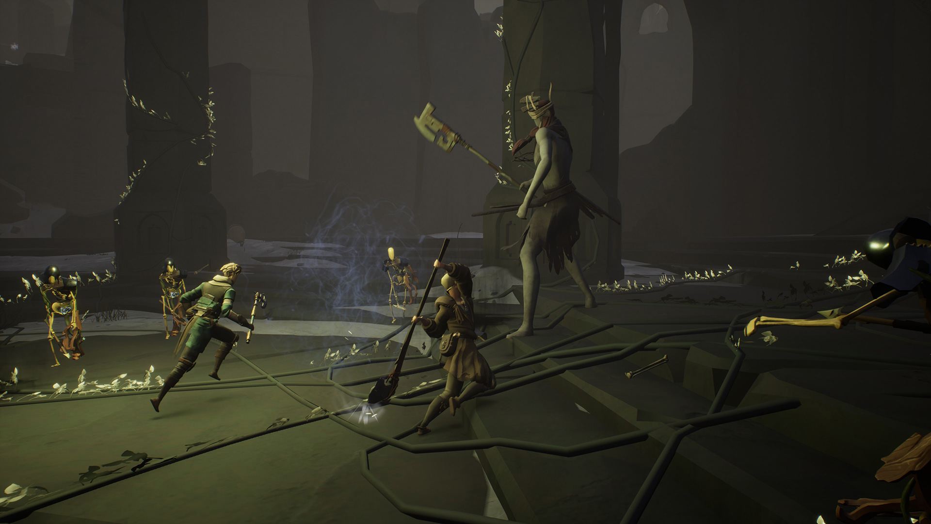 Ashen's passive co-op pairs well with Souls-y combat screenshot