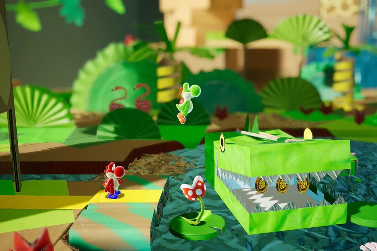 It looks like the new Yoshi Switch game is called 'Yoshi's Crafted World' screenshot
