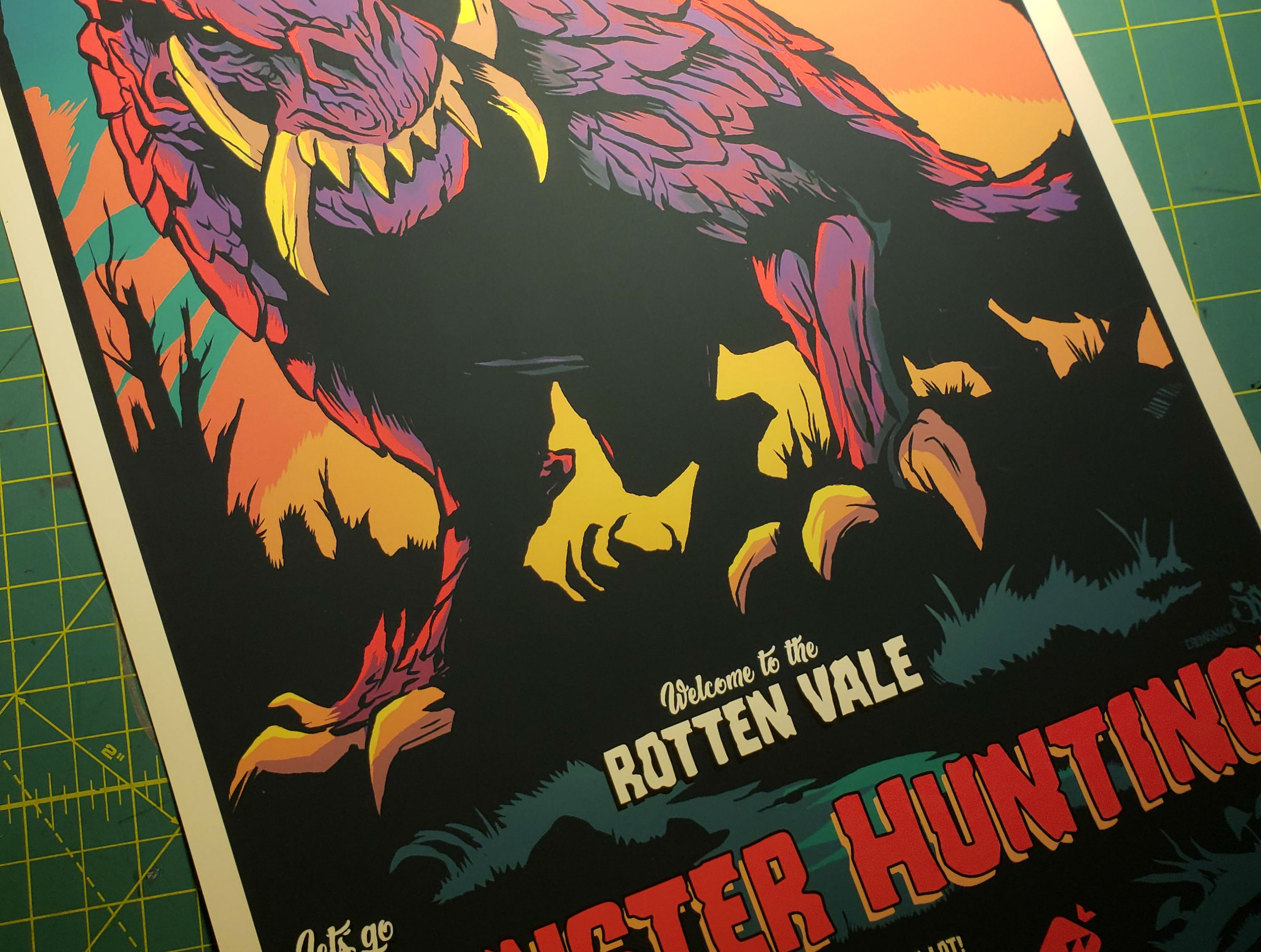 This Travel Poster For Monster Hunter S Rotten Vale Almost Makes