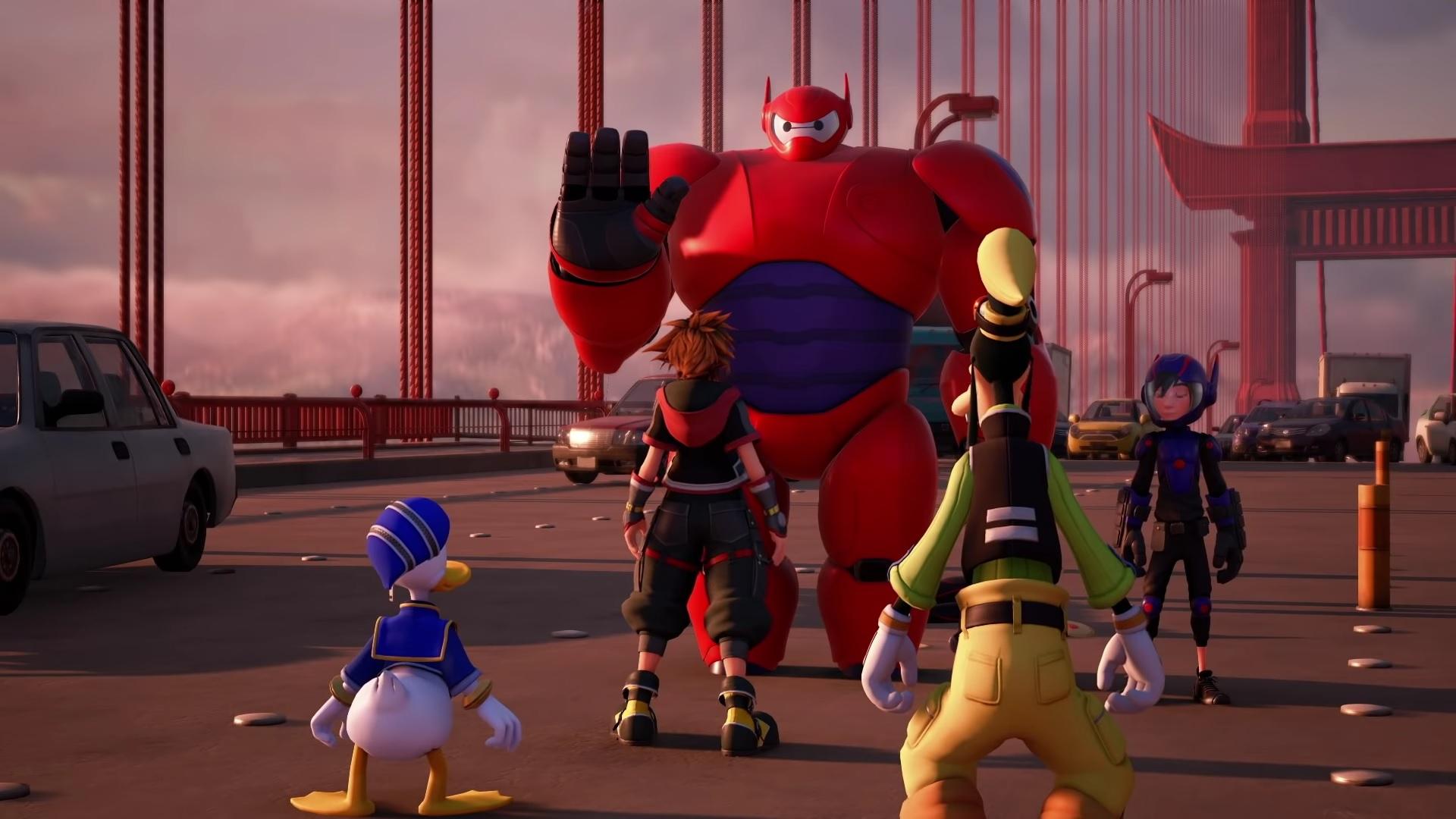 Here's a good look at Kingdom Hearts III's Big Hero 6 world screenshot