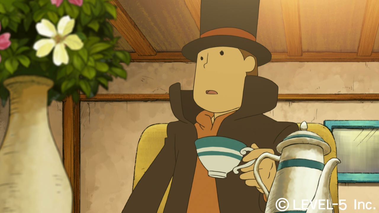 Professor Layton and the Curious Village's mobile port is heading West screenshot