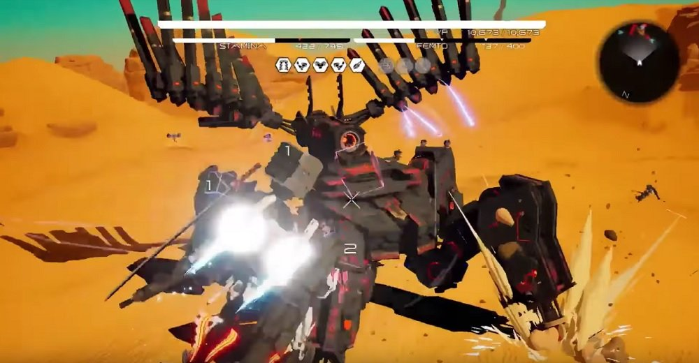 More details revealed on high-tech mech fighter Daemon X Machina screenshot