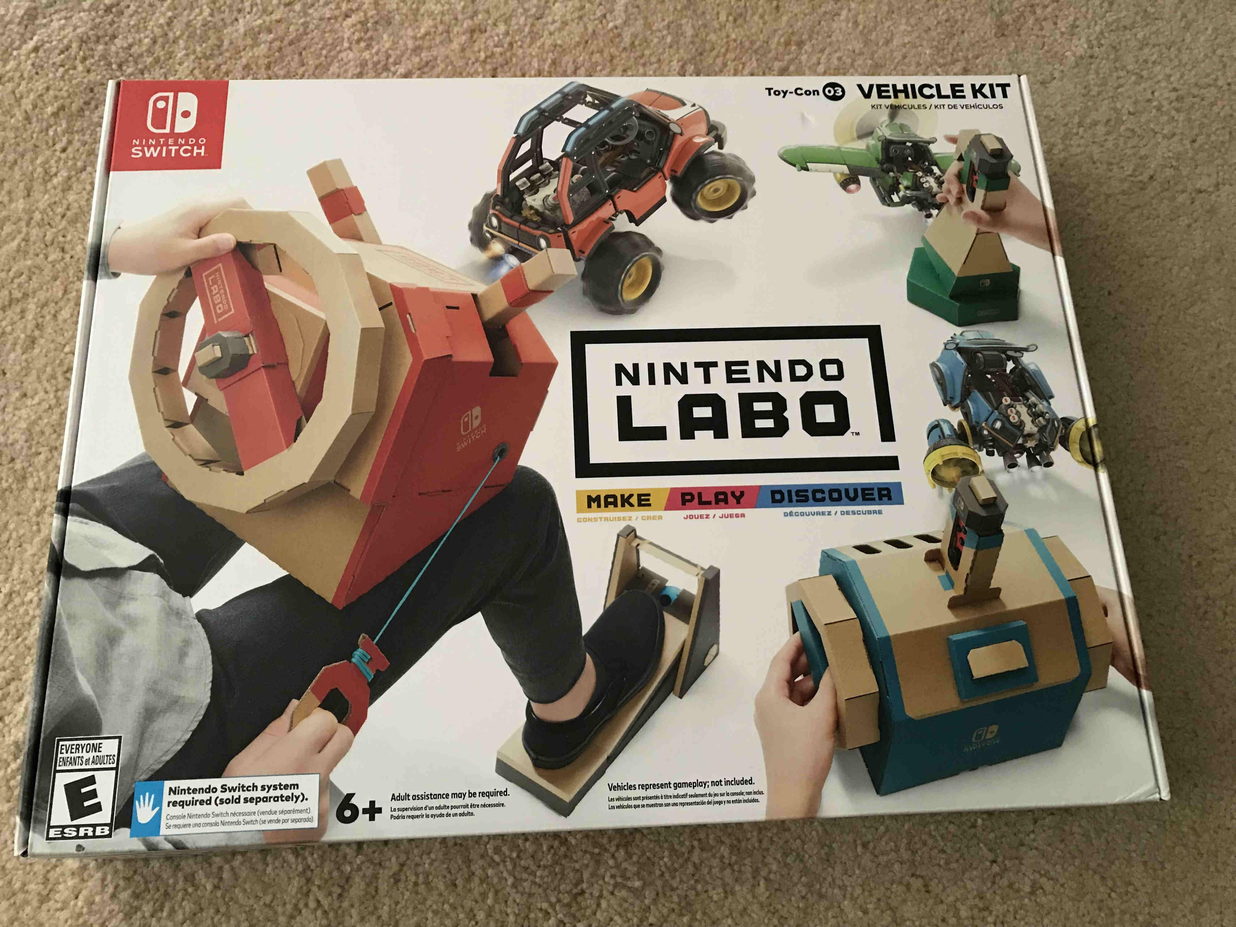 Review: Nintendo Labo: Toycon 03 Vehicle Kit screenshot