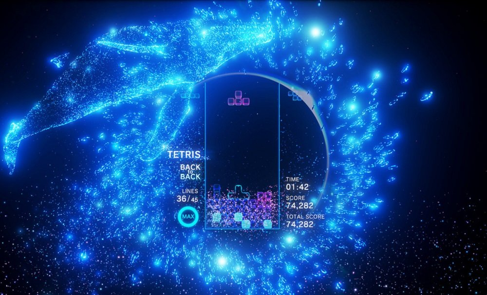 My space-trippin' time with Tetris Effect VR took me beyond the troubles of the world screenshot