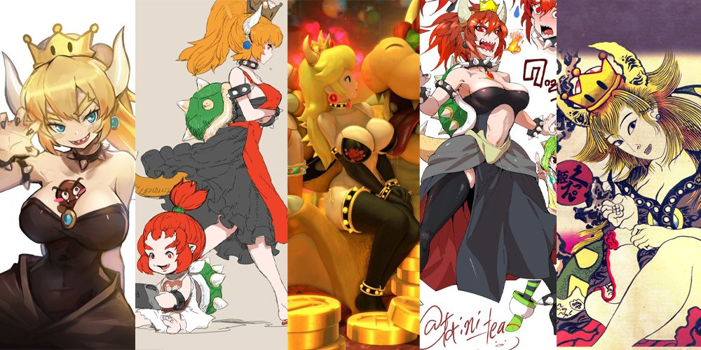 Princess Bowser is a fan creation and it's a transformation that's sweeping the nation screenshot