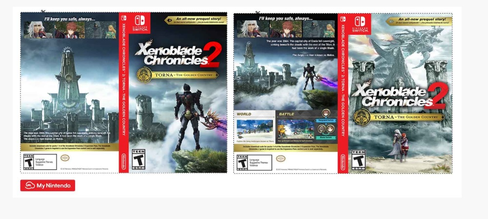 My Nintendo Offers Xenoblade Chronicles 2 Alternate Switch Case