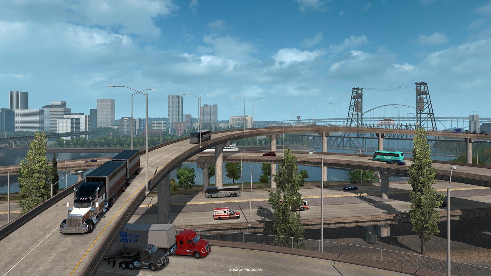 American Truck Simulator goes to Oregon next week screenshot