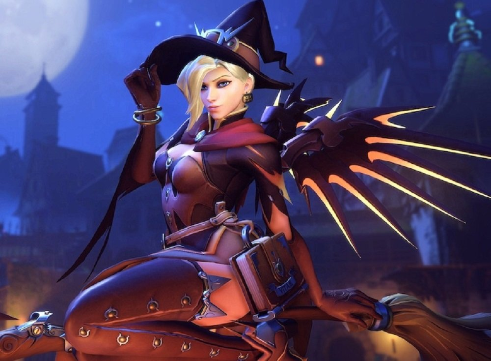 2020 Overwatch Halloween Mercy The best thing about Halloween, Witch Mercy, returns to Overwatch