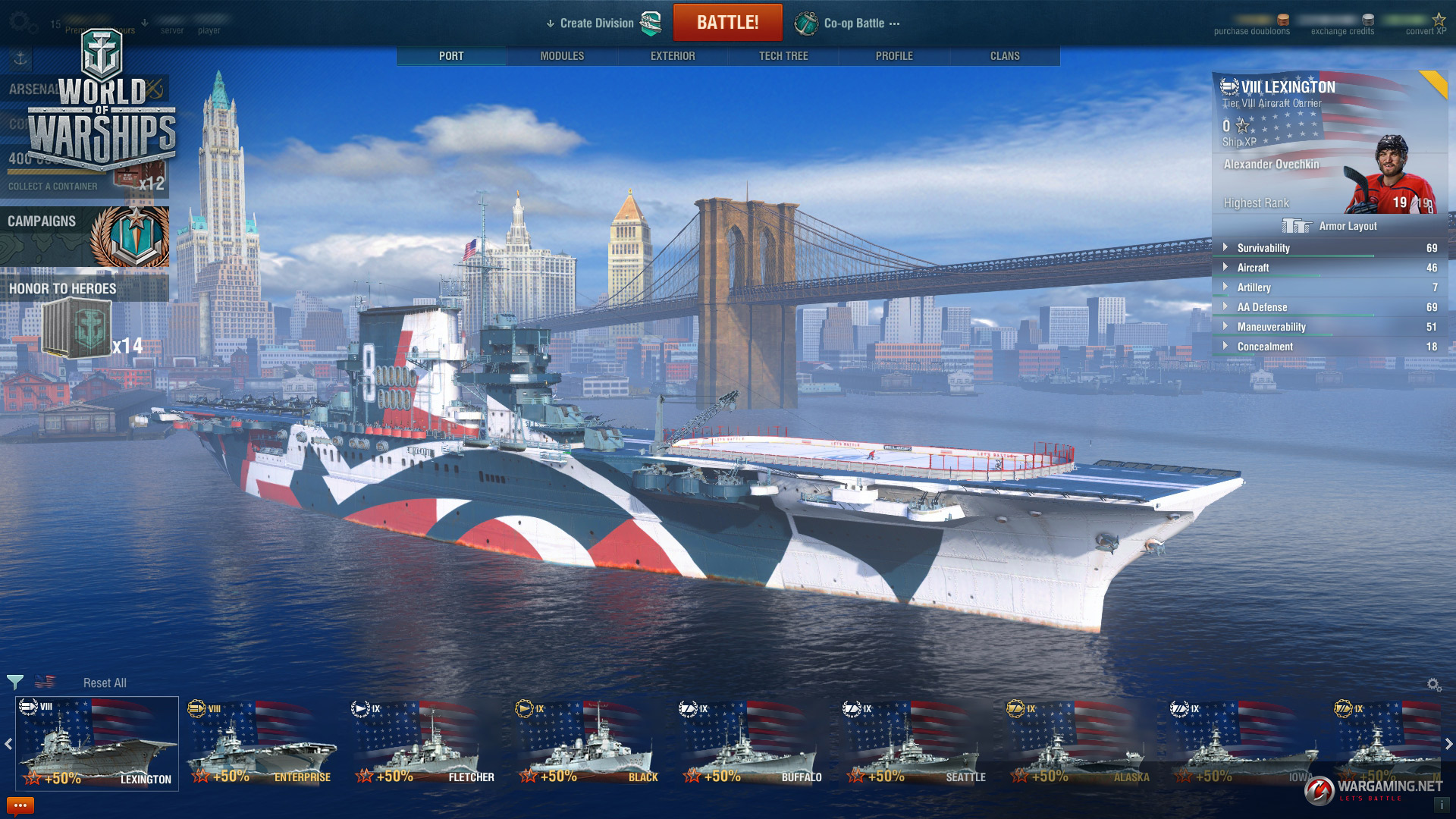 You'll want Alexander Ovechkin as your World of Warships