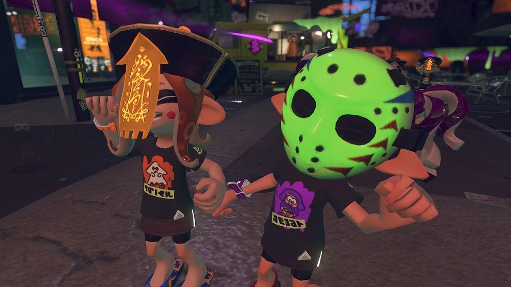 Splatoon 2's Splatoween masks have in-game effects screenshot