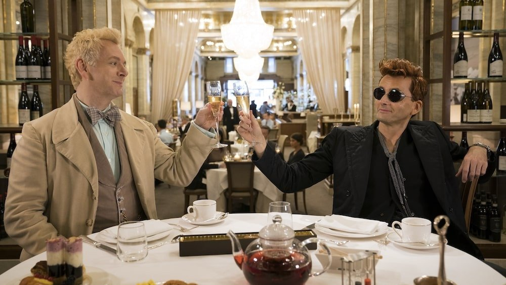 NYCC: Good Omens finally comes to life in this whimsical first trailer screenshot