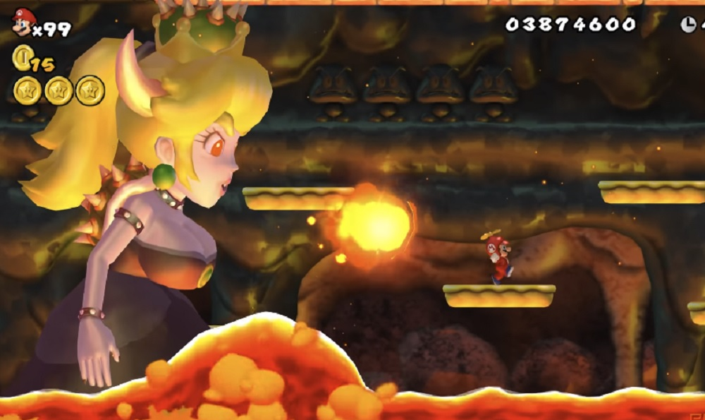 Modder swaps New Super Mario Bros Wii final boss with Bowsette