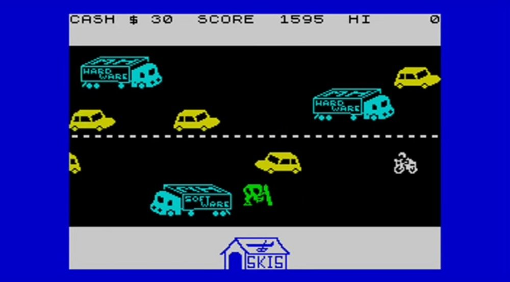 Traffic-dodging title Horace Goes Skiing was my first ever video game, what was yours? screenshot