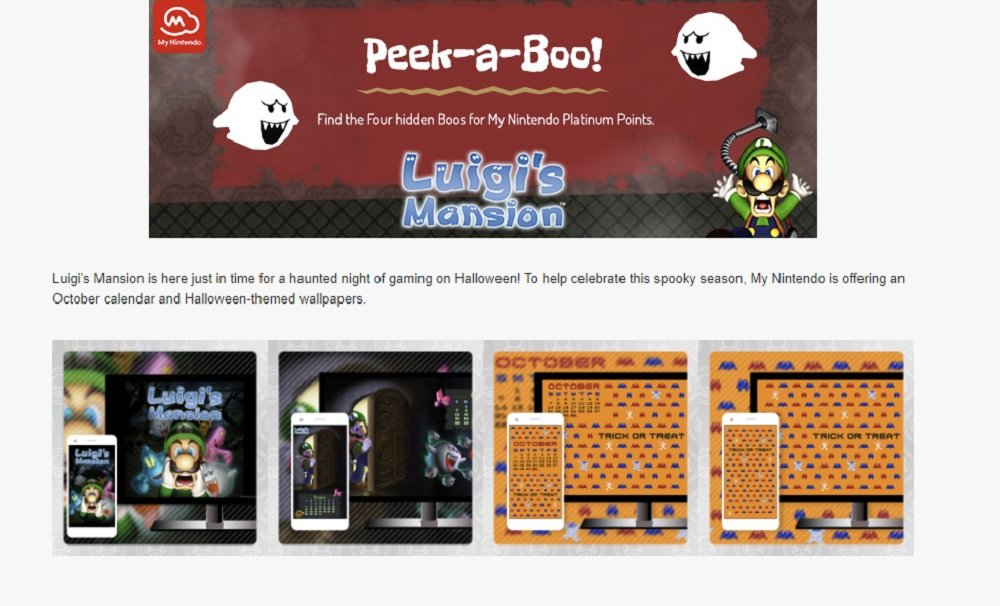 My Nintendo is getting some spooky rewards for October