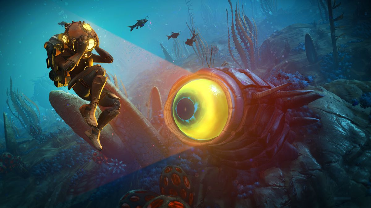 No Man's Sky's Abyss update takes players under the sea (where there are monsters) screenshot