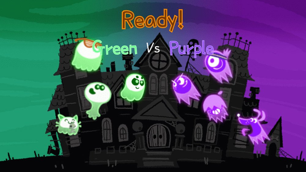 Google whipped up a cute competitive ghost game for Halloween screenshot
