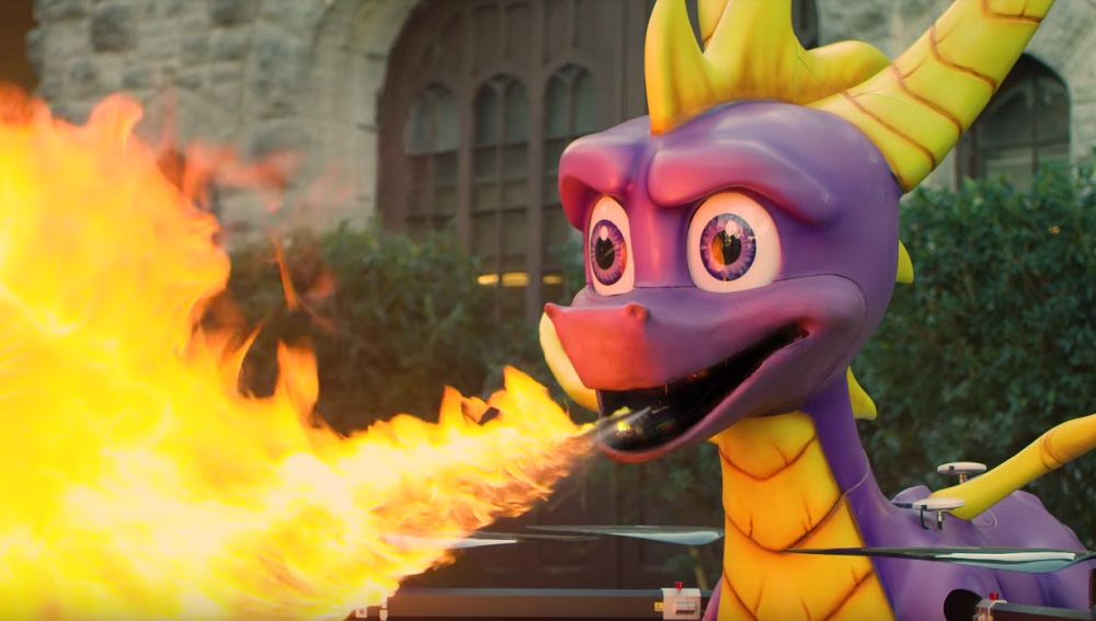 Yes, Snoop Dogg is having a fire-breathing Spyro drone fly in his copy of Reignited Trilogy screenshot
