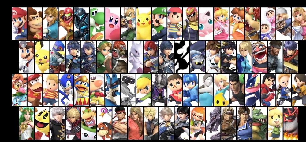 Here is your complete Super Smash Bros. Ultimate launch roster screenshot