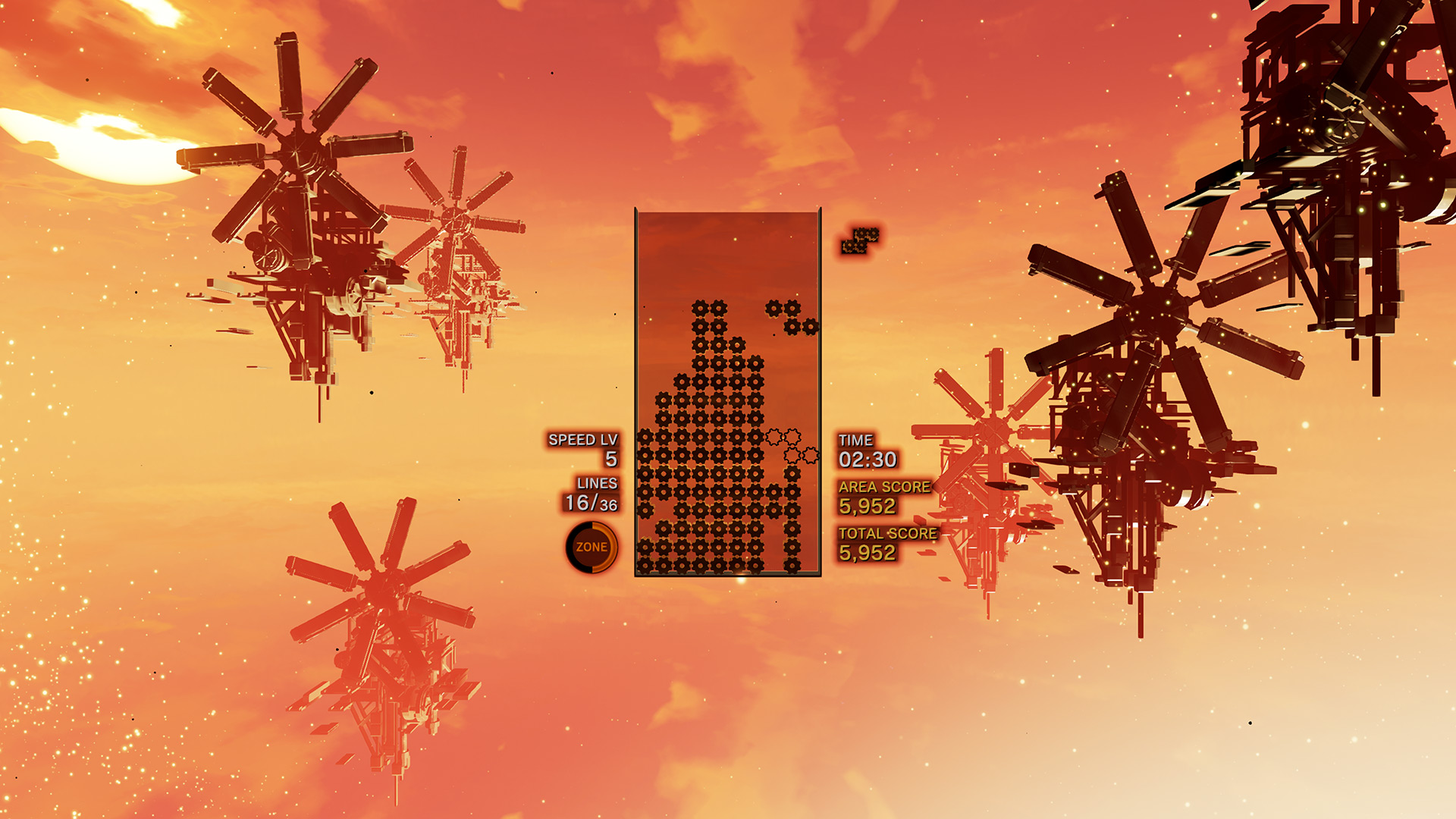 Review: Tetris Effect screenshot