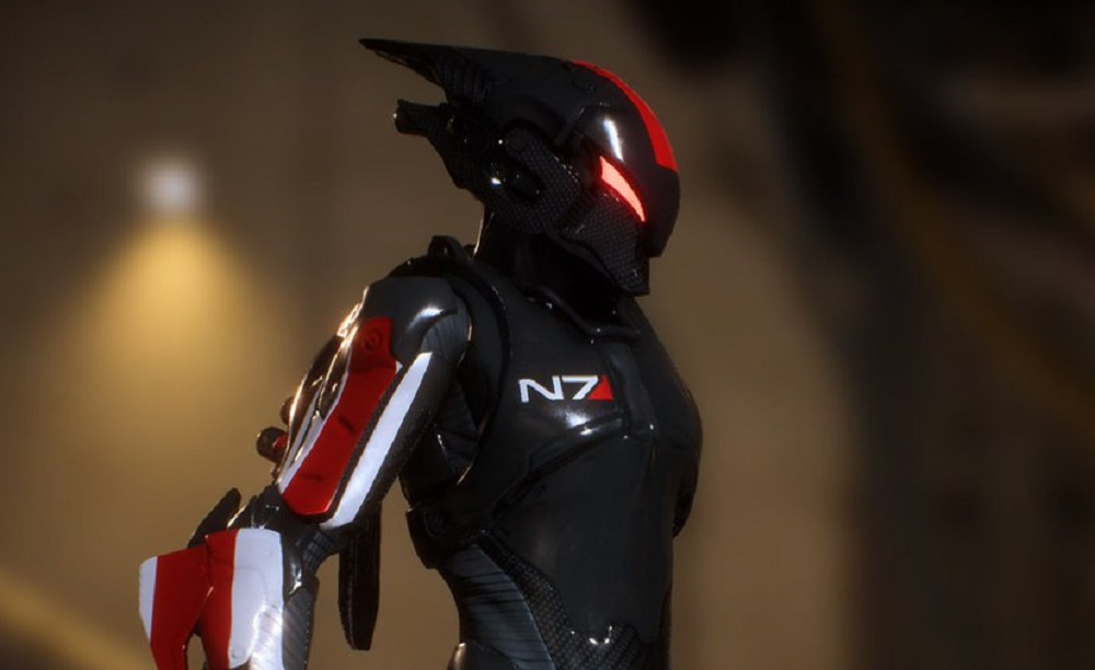 Mass Effect's N7 armour will be available in Anthem screenshot