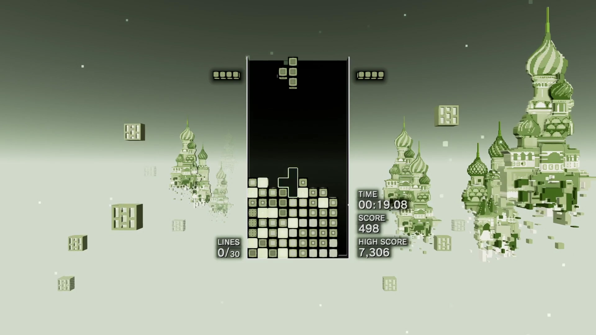 Tetris Effect has a cool unlockable 1989 stage screenshot