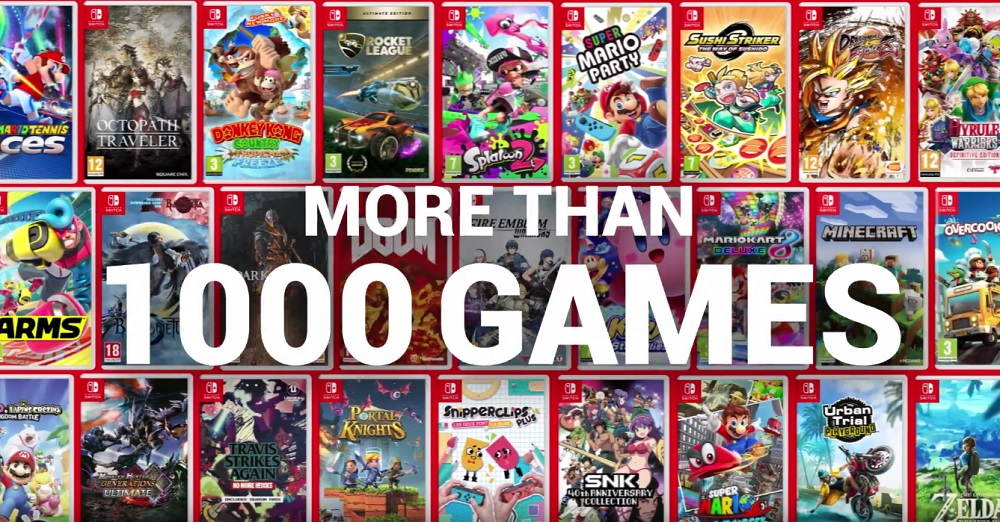 Nintendo release video to celebrate 1000 games available for Switch screenshot