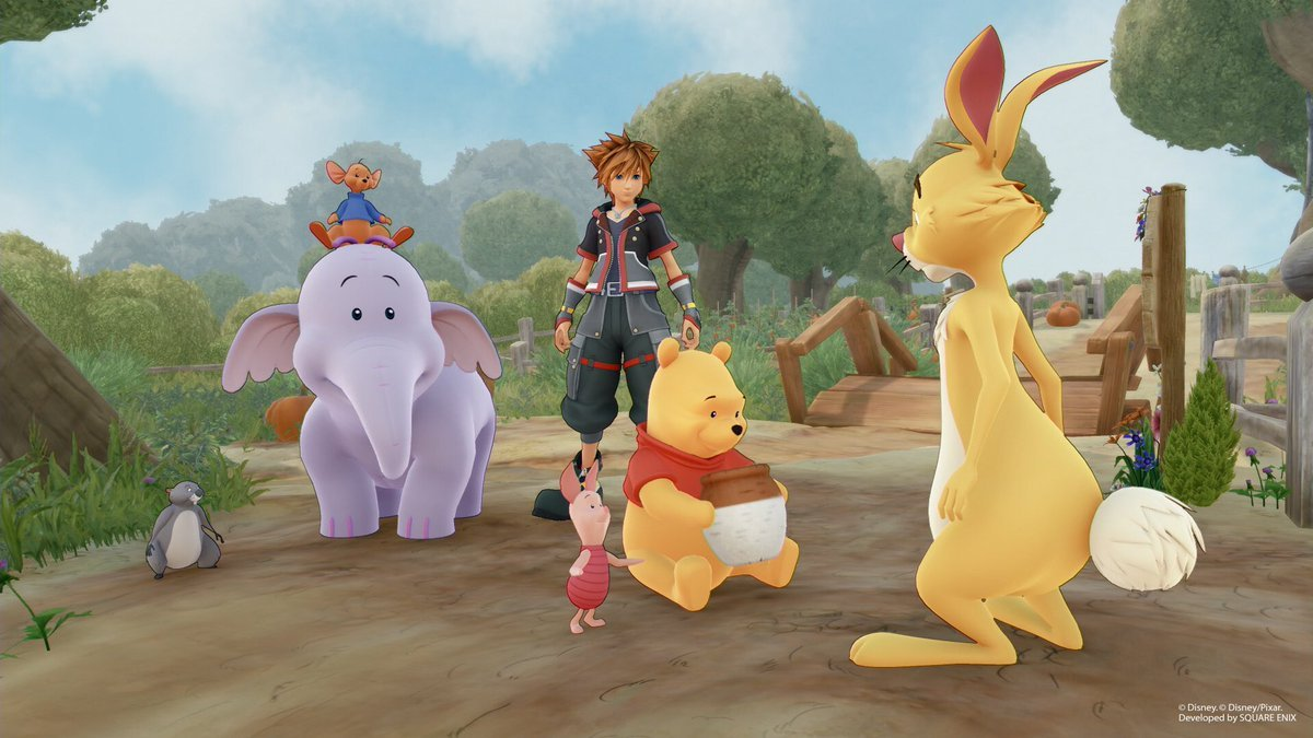 Get amped for Mini-Game Land with these Winnie the Pooh Kingdom Hearts III screens screenshot