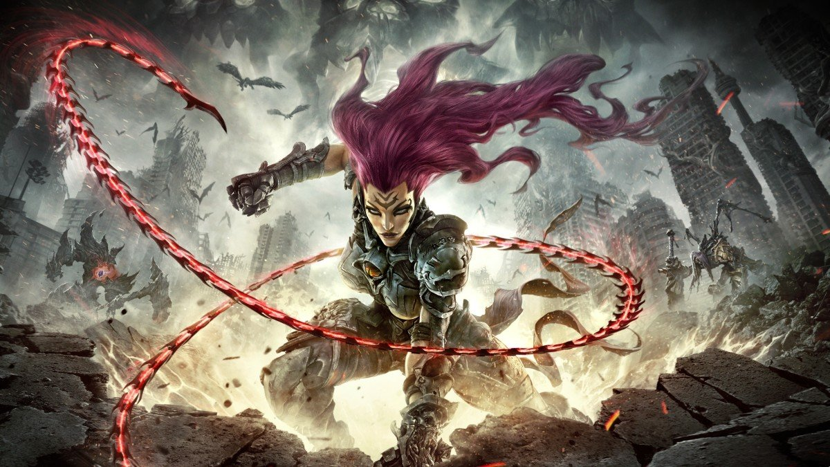 Fury is sick of all the dillydallying in Darksiders III's intro video screenshot