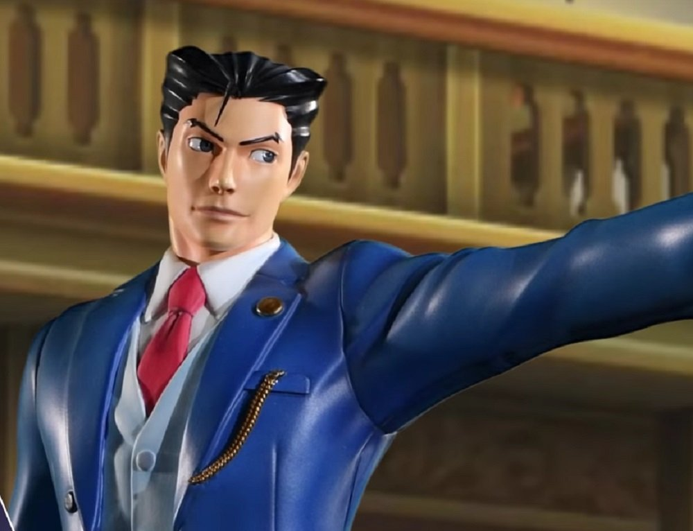 Hopefully you won't object to this Phoenix Wright statue screenshot