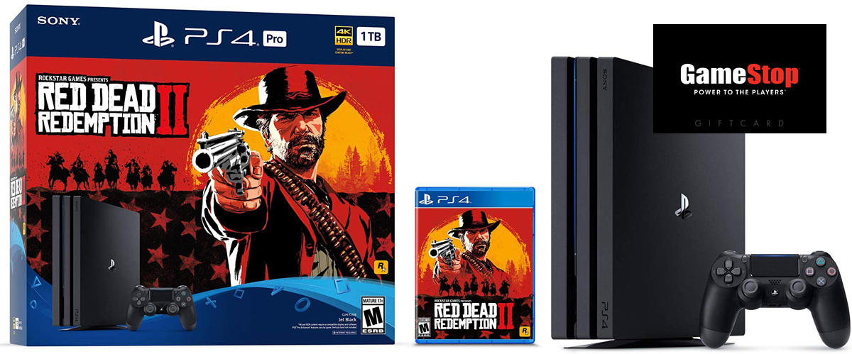 GameStop Black Friday live: Switch, PS4 Pro RDR2 bundles with free $50 card screenshot