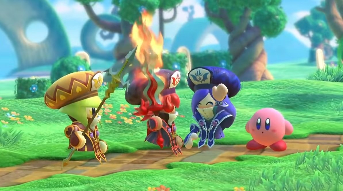 The Mage-Sisters are arriving in Kirby Star Allies as DLC screenshot