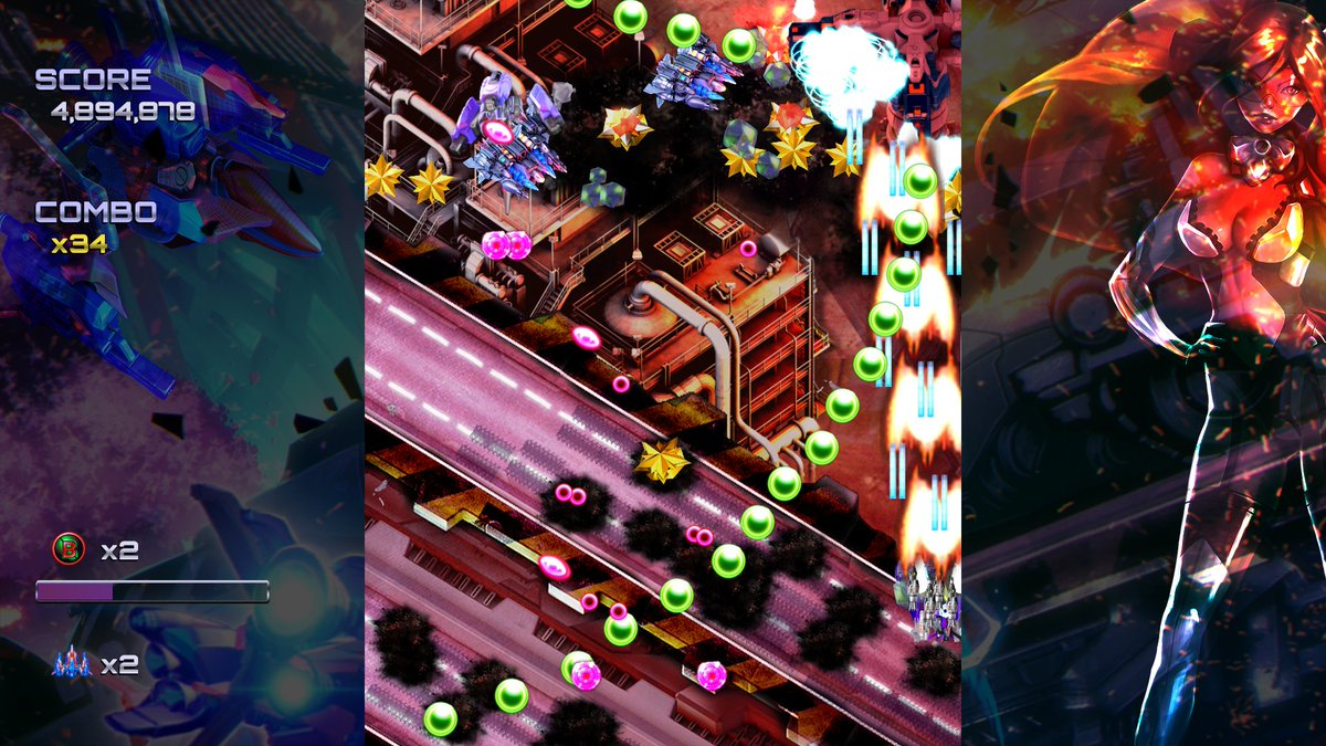 The Switch is building up quite a shmup collection: Ghost Blade HD set for release next year screenshot