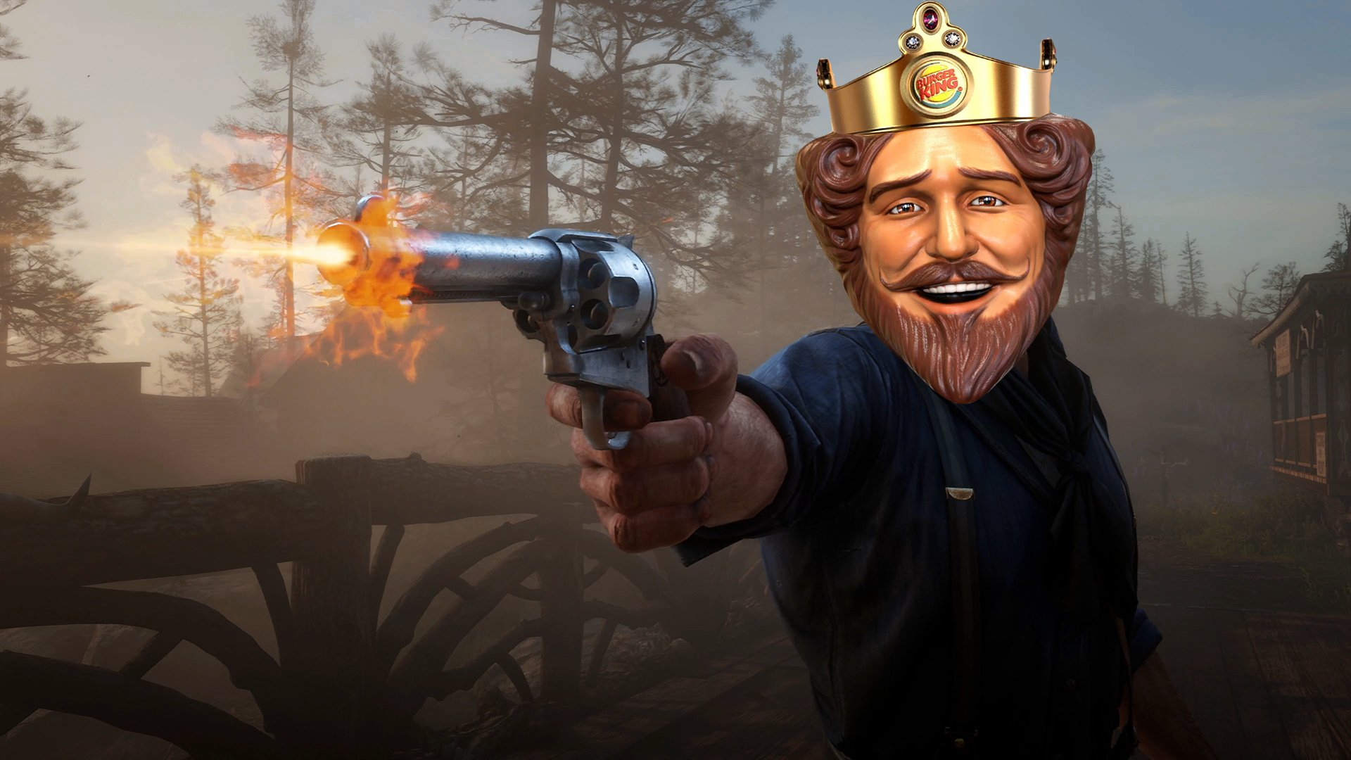 Burger King Sweden 'adds' Whopper crafting to Red Dead Redemption 2 screenshot