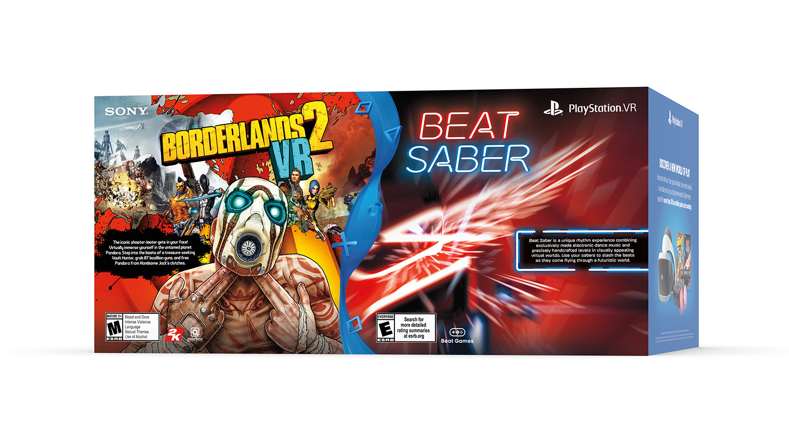 Upcoming PlayStation VR bundle packs in Borderlands 2 and Beat Saber screenshot