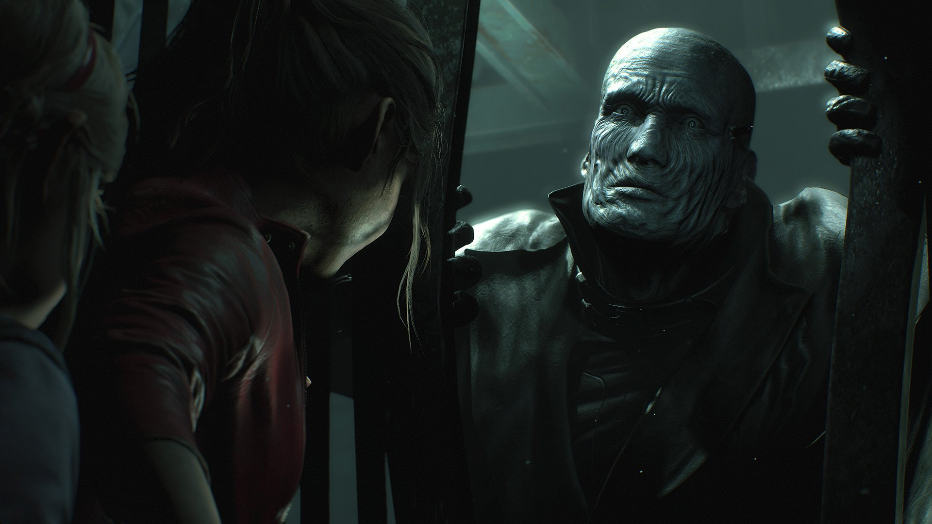 Mr. X isn't messing around in the Resident Evil 2 remake screenshot