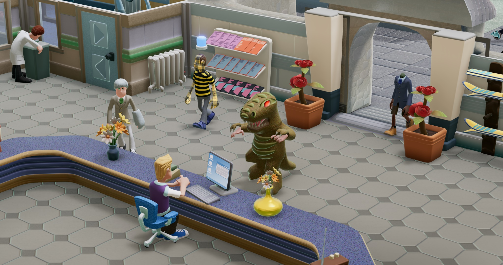 Bigfoot is real in Two Point Hospital's new DLC screenshot
