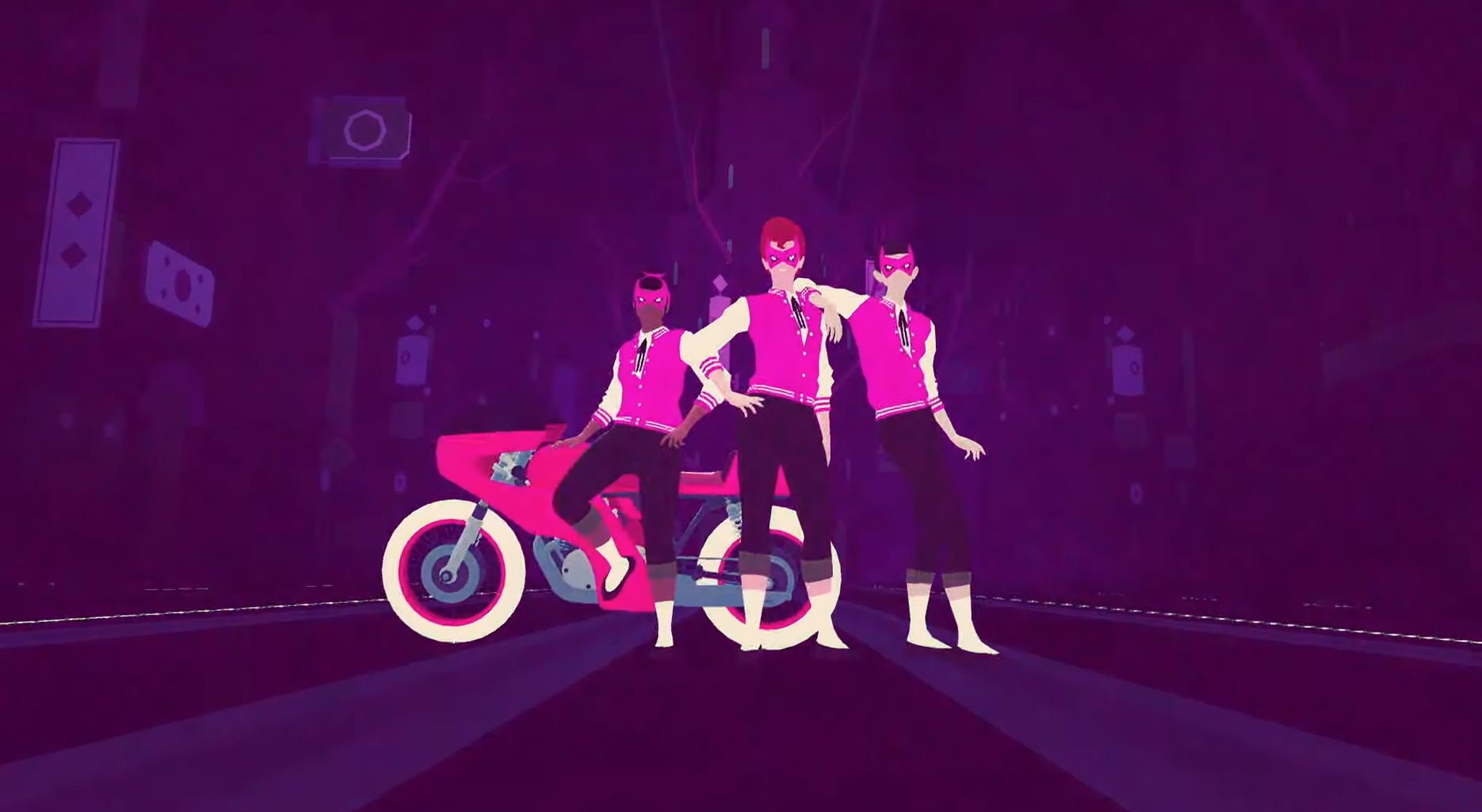 Sayonara Wild Hearts is a neon-drenched dreamscape for Switch screenshot