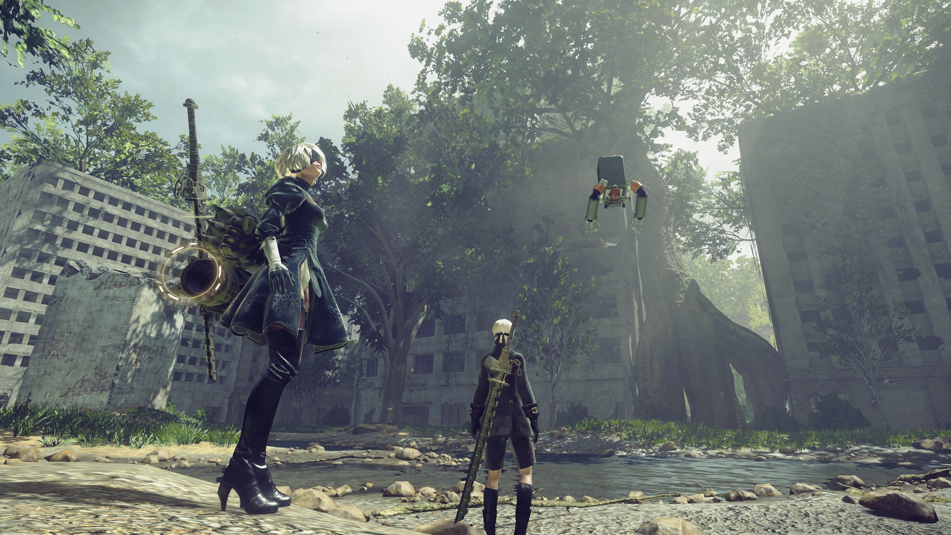 NieR: Automata Game of the Year edition announced with an amazingly bizarre message from its creator screenshot