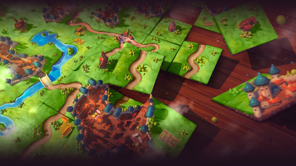 Carcassonne's Switch port benefits from pass and play potential screenshot