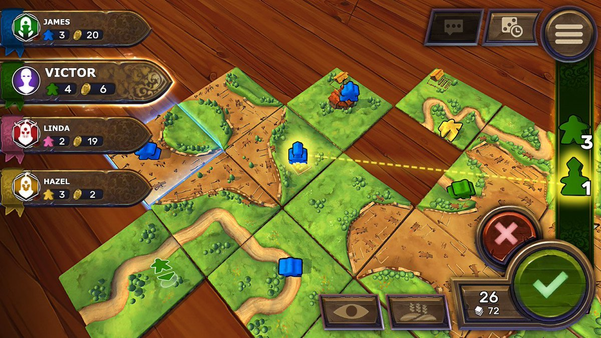 Carcassonne's Switch port benefits from pass and play potential