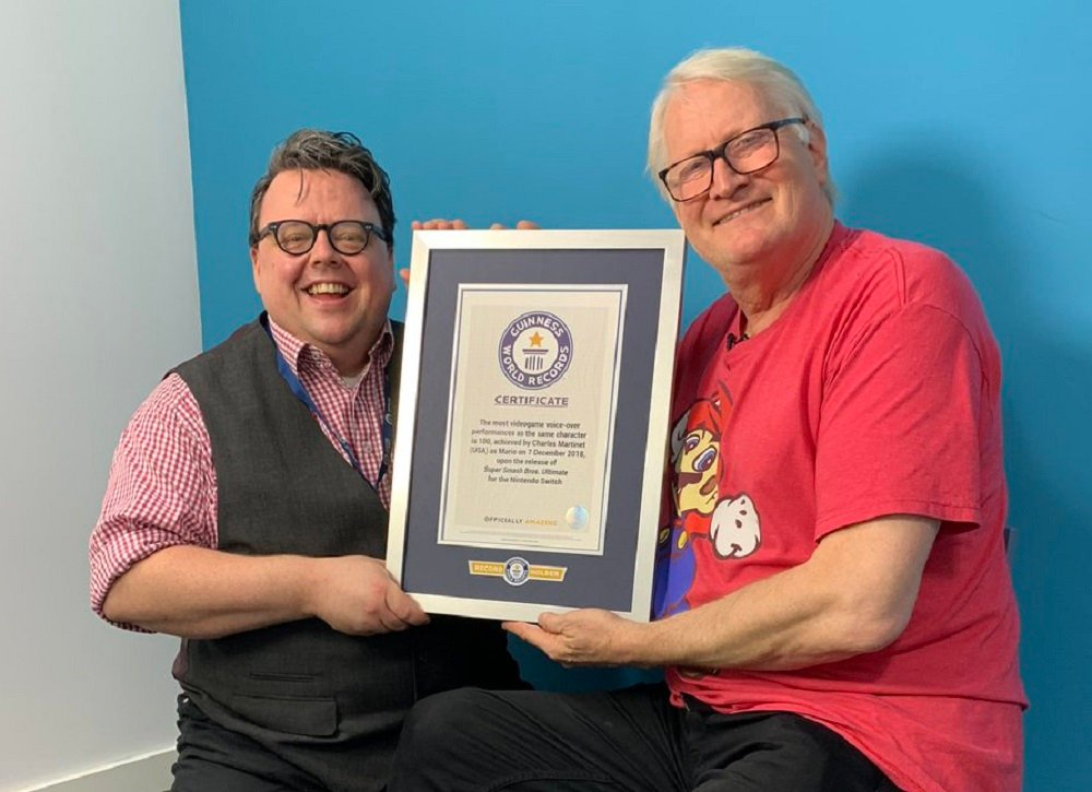 Charles Martinet enters Guinness Book of World Records for Mario voiceover work screenshot