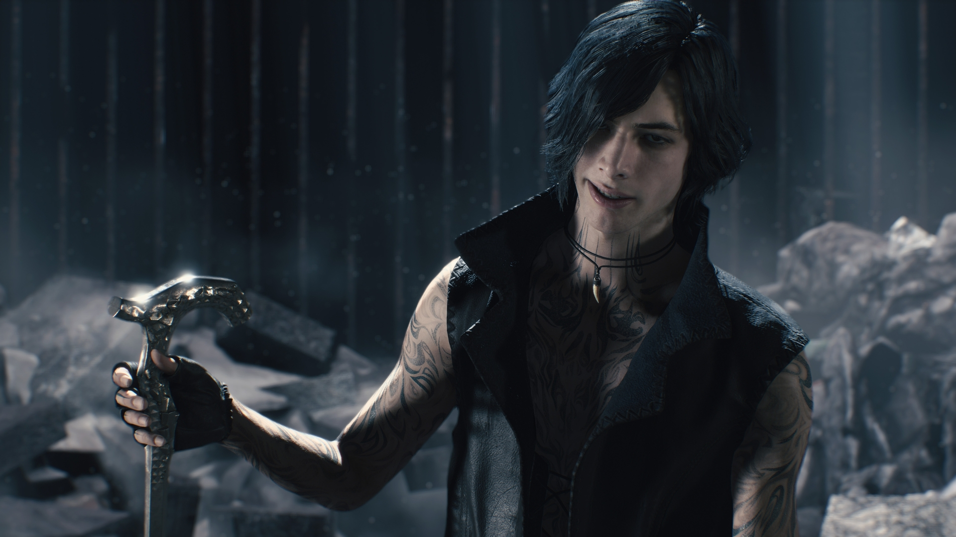 Watch newcomer V strut his stuff in Devil May Cry 5 screenshot