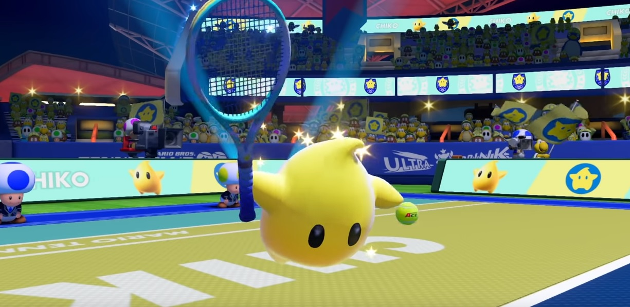 Rosalina's quest for world domination continues as her buddy Luma enters Mario Tennis Aces screenshot