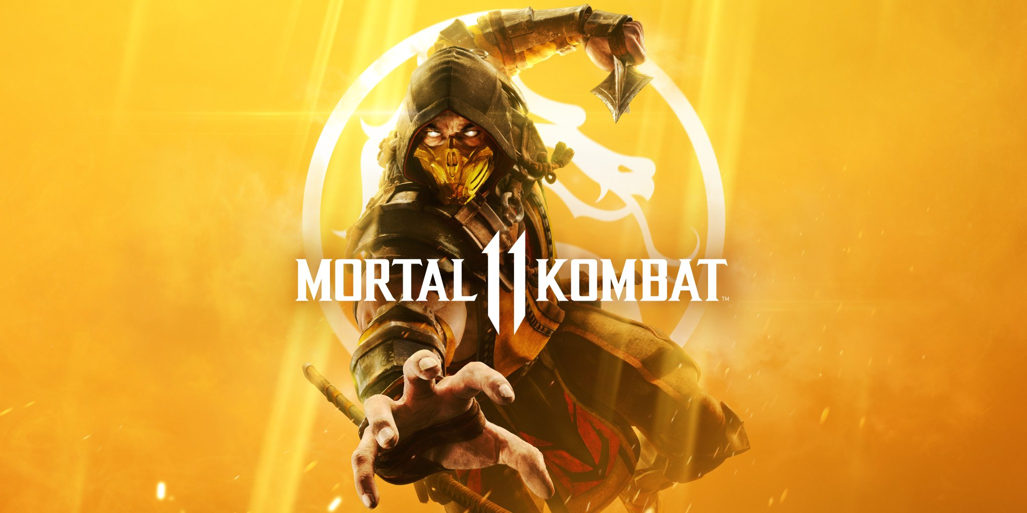 Scorpion is the golden child who's on the cover of Mortal Kombat 11 screenshot