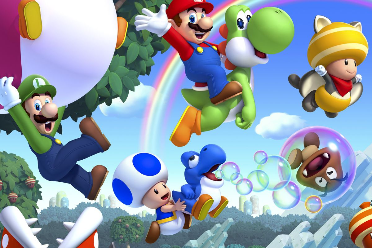 Thought to be lost to the void, Nintendo reveals that Blue Toad is still in New Super Mario Bros. U Deluxe screenshot
