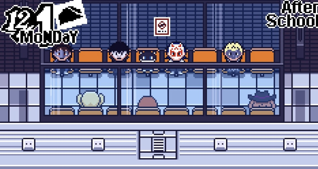 Persona 5 as a Game Boy Advance Game? Yeah, I'd play it screenshot